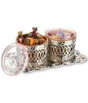 JARS SETS RISTA  silver (2 pc. With tray).
