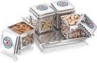 Jars Sets   Ellora 4 Silver Designer