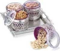Jars Sets  Ajanta 4 Silver Designer