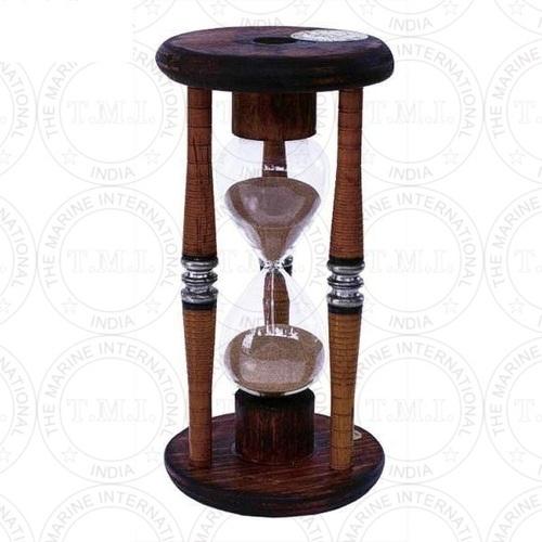 Antique Bobbin Wooden Sand Timer (5 Min)