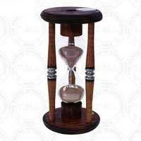 Antique Bobbin Wooden Sand Timer (5 Min)
