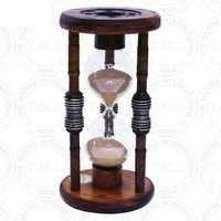 Antique Wood Hourglass Sand Timer (60 Min)