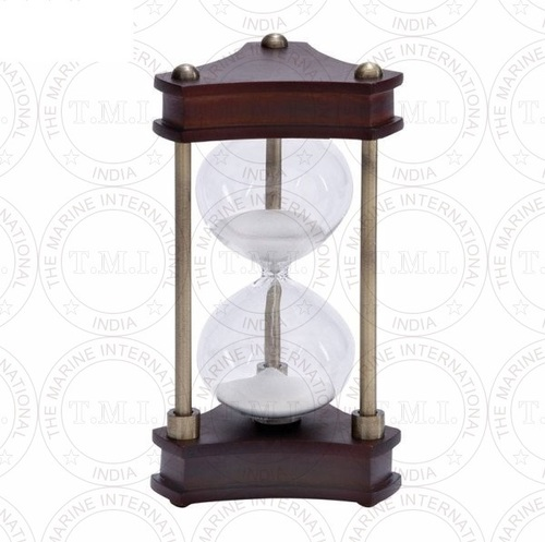 Nautical Triangular Wooden Sand Timer (15 Min)