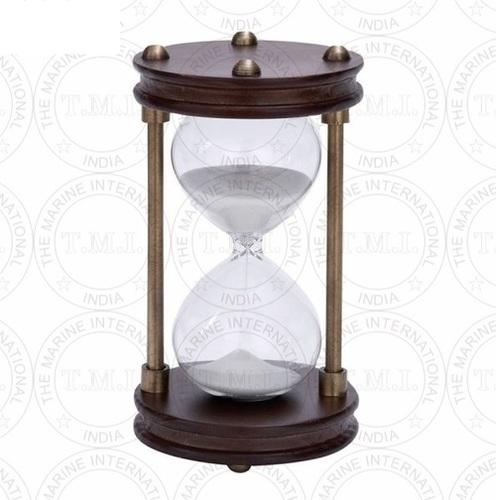 Antique Wooden Sand Timer (15 Min)