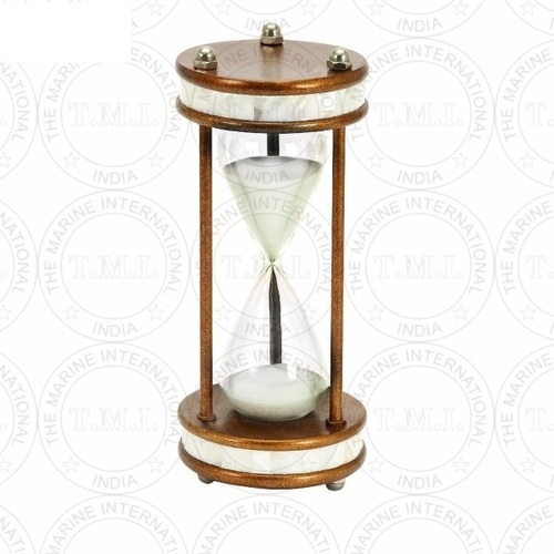 Mother Of Pearl Wooden Sand Timer (60 Min)
