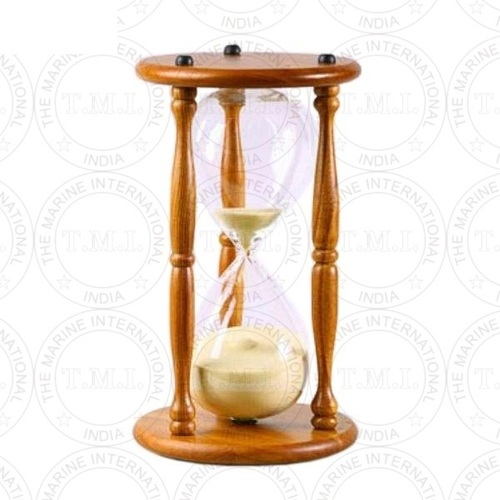 Wooden Hourglass Sand Timer With Yellow Sand (100 Min)