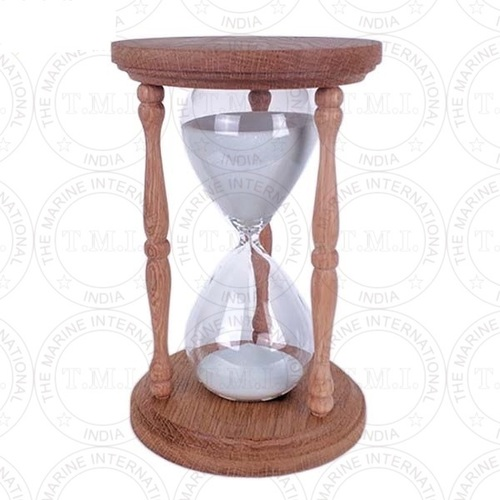 Nautical Wooden Sand Timer (30 Min)