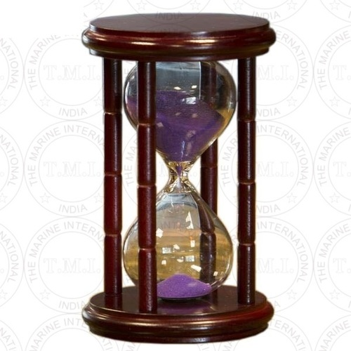 Cherry Hourglass Sand Timer With Purple Sand (15 Min)