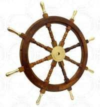 Brass Handle Wooden Ship Wheel
