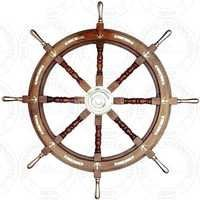 Designer Nautical Wooden Ship Wheel