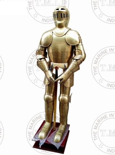 Brass Antique Medieval Knight Full Suit Of Armour