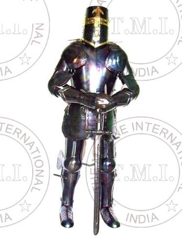 Antique Templar Full Suit Of Armour