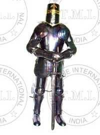 Antique Templar Full Suit Of Armour