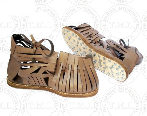 Roman Armour Leather Sandal