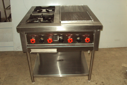 Two Burner Range with Griller