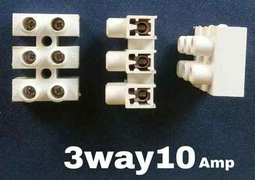 Connectors 3 way 10 Amps Terminal Block