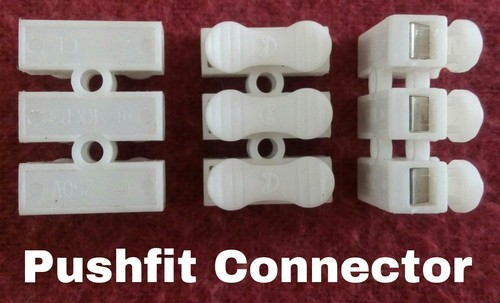 Connector Push fit 3 way 6 Amps