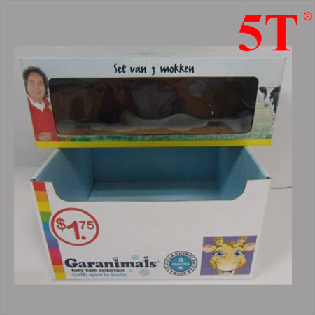 Printed Color Box with Clear Windows
