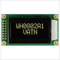 VATN LCD 8x2 with Highlight Yellow-Green LED Backlight