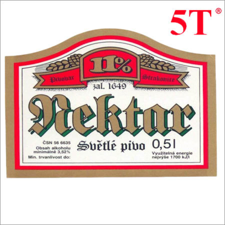 Printed Beer Aluminum Label
