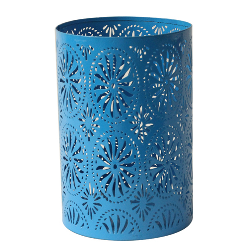 Pierced Flower Candle Holder