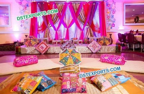 Rajasthani Theme Wedding Mehandi Stage