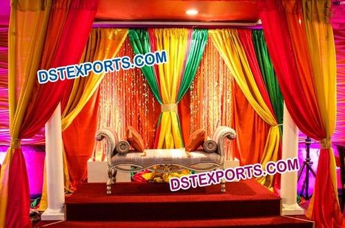 Backless Wedding Mehandi Furniture