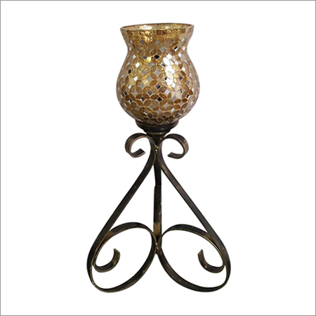 Mosaic Metal Candle Holder Stand