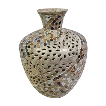 Mosaic Glass Flower Vase