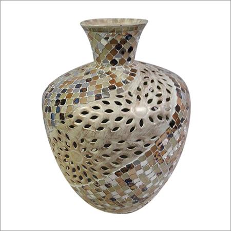 Mosaic Glass Flower Vase