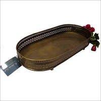 Metal Carved Rectangular Tray
