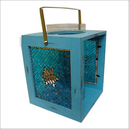 Mosaic Glass And Metal Lantern