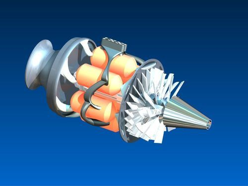 Gas Turbines Or Turbojet Engine