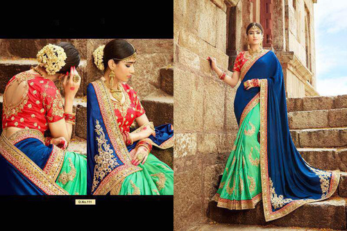 Silk worked saree