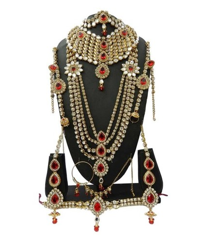 Red Kundan Bridal Set