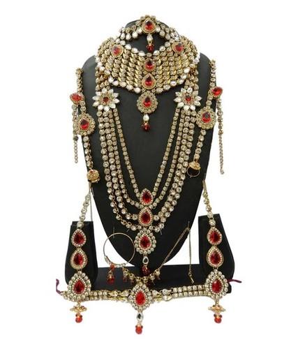 Red Kundan Bridal Set