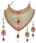 Red Kundan Bridal Necklace Set