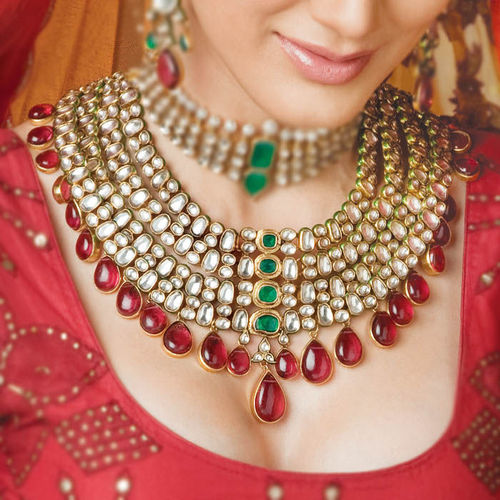indian bridal kundan set