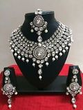 Kundan Pearl Rhodium Plated Set