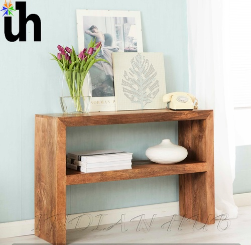 Mango Console Table with Shelf
