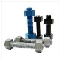 Half Threaded Stud Bolt and Heavy Hex Nuts