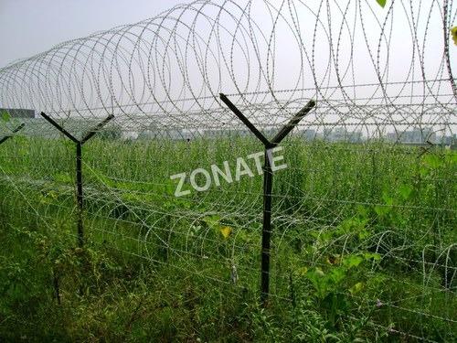 Erection Of Razor Blade Wire