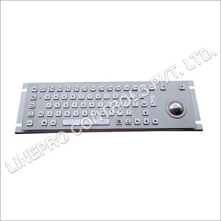 Metal Keyboard With Trackba