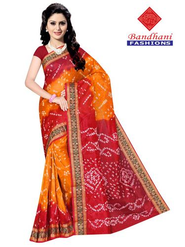 Bandhani Cotton Silk Suits Design