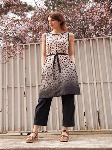Ladies  Printed Dress Tunik