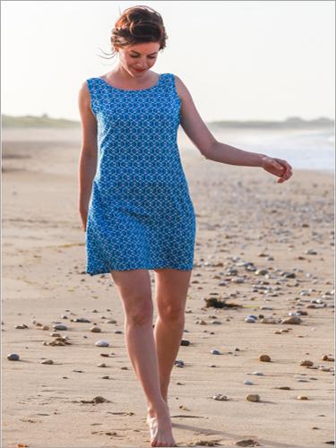 Ladies Blue Print Tunics