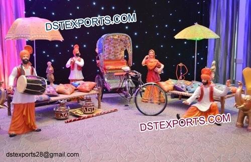 Punjabi Marriage Mehndi Stage Decorations