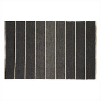 Striped Wool Blend Rug