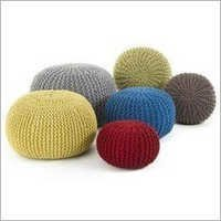 Knitted Cotton Pouf