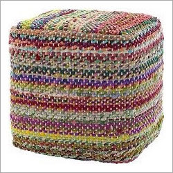 Multi Chindi Cotton Dorry Poufs